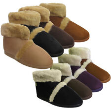 New Ladies Dunlop Coolers Microsuede Fur Lined Slippers Ankle Boots Ugg