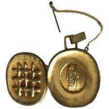 Gilt Bronze Reliquary Pendant by Line Vautrin Art Jewelry