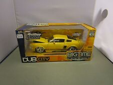 JADA 1/24 BIGTIME MUSCLE *VHTF VERSION* YELLOW 1967 SHELBY GT-500 IN BOX 90341