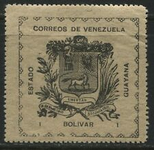 Venezuela  Guayana 1903 1 bolivar black on grey mint o.g.