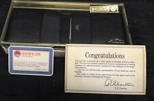 Vintage New Old Stock Amity Gold Crown Billfold Wallet Black Leather Humble Oil