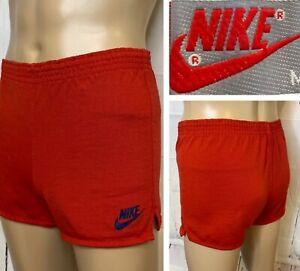 Vintage Nike Shorts 70s 80s Sprinter Running Gray Tag High Cut Swoosh Men M RARE