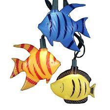 KURT ADLER MULTI-COLOR TROPICAL FISH 10 LIGHT SET COASTAL NOVELTY XMAS DECOR