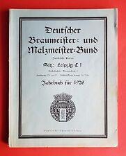 Jahrbuch für 1928 Deutscher Braumeister- und Malzmeister Bund LEIPZIG  ( F16618
