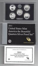 2011 US MINT AMERICA THE BEAUTIFUL QUARTERS  SILVER PROOF SET W/COA (SV5)