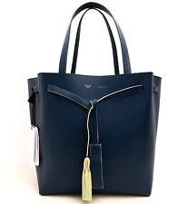 CELINE Cabas Phantom Tassel Tie Tote Bag in Smooth Leather - Blue & Yellow