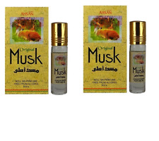 2 Original Musk 8ml By Ahsan Sandalwood Benzoin Amber Musk Roll on Perfume