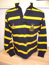 Men's Loose Fit Long Sleeve Striped Rugby Casual Shirts & Tops