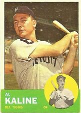 1963 Topps Basebal Set Break Al Kaline Detroit Tigers Card #25