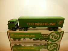 LION CAR 58+36 DAF 2800 + TRAILER TECHNISCHE UNIE -GREEN 1:50 - EXCELLENT IN BOX