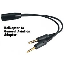 Helicopter U174 Headset to General Aviation Adapter David Clark Avcomm SoftComm