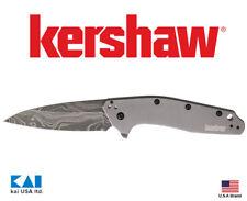 "Kershaw Knives 1812GRYDAM Dividend Blade Show Winner 3"" Blade Damascus Steel"