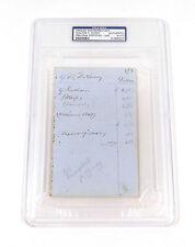 Walter T. Avery Autographed Signed - 1846 NY Knickerbocker baseball player !!