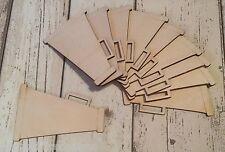 10  laser cut birch plywood megaphones cheerleader, baseball theme **NEW**