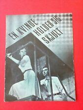 "Vintage Danish Film Program. ""Woman in Hiding"" Ida Lupino.Howard Duff."