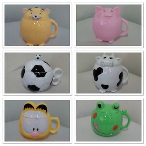 Cute Animal Mug Coffee Milk Tea Drink Mug Cup Lover Kid Gift Frog Cow Tiger Pig
