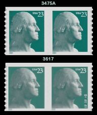 3475A & 3617 George Washington 23c Coil Pairs 2001 2002 Set of 2 MNH - Buy Now