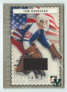 1/1 Tom Barrasso 2006 07 in the game vault between the pipes Jersey 1/1