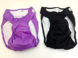 2 Pet Parents Washable Reusable Dog Diapers XL Purple Black - NEW