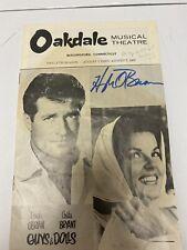 Hugh O'Brian Anita Bryant Autograph Oakdale Theatre Program  Guys And Dolls