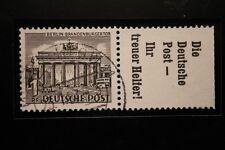 Berlin gestempelt Mi.Nr. W37 geprüft 1 Pfennig Bauten-Zusammendruck 1952