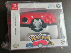 Nintendo Switch Wireless Enhanced Licensed Pokeball Pokemon Controller-Sealed