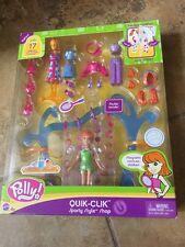Polly Pocket QUIK-CLIK Sporty Style Shop 17 pieces Mattel