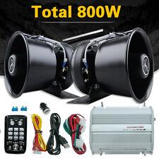 400W Car Police Fire Siren Horn Speaker Alarm+Remote Control+Host Control Box