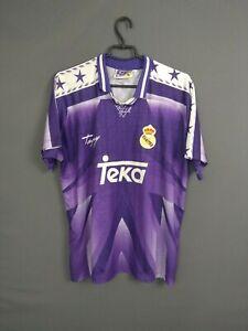 Real Madrid Jersey 1996/97 Retro Replica Away Size XL Shirt Camiseta Taguy ig93