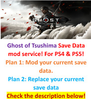 Ghost of Tsushima Save Data mod service! For PS4 & PS5 !