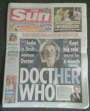 The Sun NEWSPAPER-Jul 17 2017- Jodie Whittaker First Woman Dr Who.