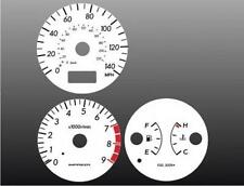 2002-2003 Subaru Impreza WRX Dash Cluster White Face Gauges 02-03