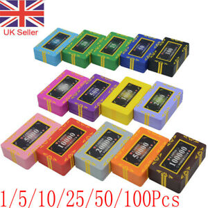 30 Grams High Quality Poker Casino Numbered Plastic Chip Plaques 74 x 44mm UK