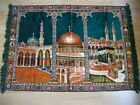 SILK VELVET - WALL CARPET WITH CABE PICTURE - 100X142 CM good condition and soli