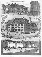 Monaco, la casa Hofbräu, trasformazione, Sammelblatt, originale-chiave in legno di 1897