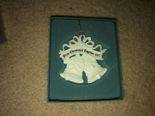 "Lenox "" First Christmas Together 1997 "" Porcelain Xmas Ornament Nib Bells"