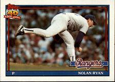 1991 Topps #1 Nolan Ryan  -  NM/MT  -  Texas Rangers