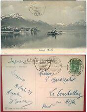 1900ca LOCARNO MURALTO con battello Lago Maggiore Canton Ticino Svizzera Suisse
