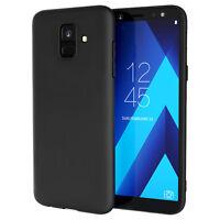 Samsung Galaxy A6 / A6 Plus Case Silicone Soft Gel Phone Cover - Matte Black