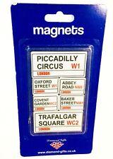 NOVELTY Souvenirs London Famous Street Name Fridge Magnets