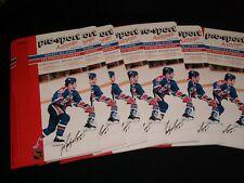 7 X 1986-87 Pro-Sport Autograph Card  ° EDMONTON OILERS   #11, MARK MESSIER