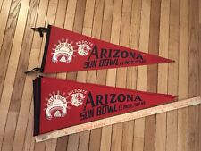 Vintage 1968 Arizona Wildcats Football Sun Bowl Pennant