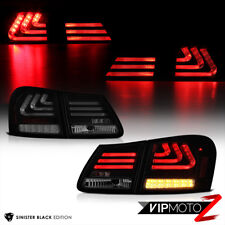 """SINISTER BLACK"" 2006-2011 LEXUS GS300 GS350 GS430 OLED Neon Tube Tail Light 4PC"