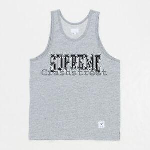 Supreme SS15 Collegiate Box Logo Tank Top Tee - GRAY