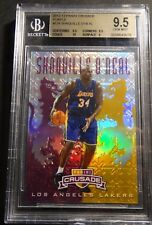 2012 SHAQUILLE O'NEAL PANINI CRUSADE PURPLE PRIZM REFRACTOR  /49 BGS 9.5  POP 3