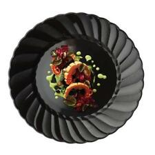 """12 /pk  Black 7.5""""  Round Disposable Plastic Plate  Catering"""