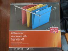 Office Depot Letter Hanging Folder Frame Kit Fits In File Drawer Size Pack Of 12