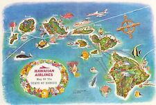 Map Of North America And Hawaii.Hawaii Antique North America Maps Atlases 1960 1969 Date Range Ebay