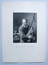 Musik, Musiker - Dudelsackpfeifer - Stahlstich W. French nach Teniers um 1870