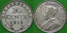 1912 Canada Silver Newfoundland Quarter Graded as Fine